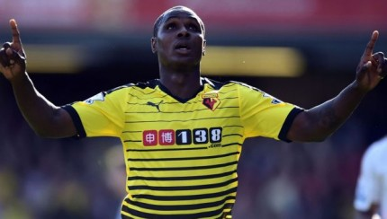 Ighalo celebrating another goal for Watford