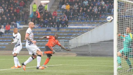 Zargo Toure scores a third late on for Lorient.